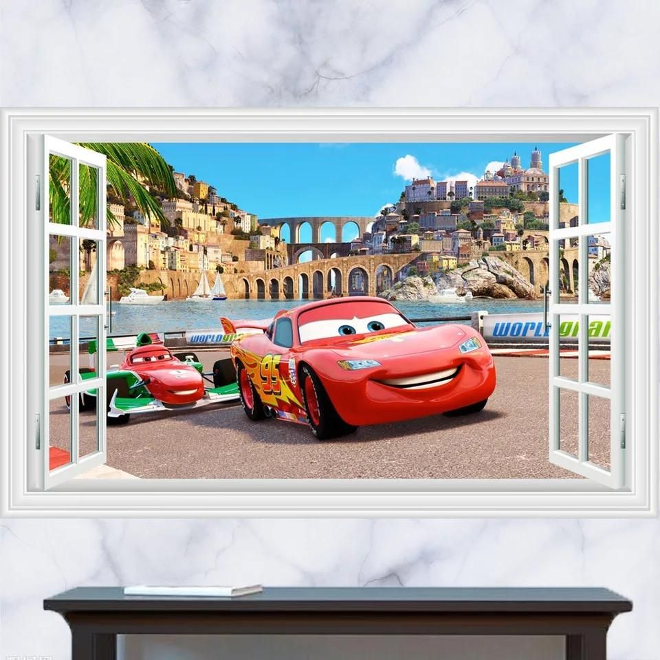 Disney cars lightning mcqueen wall stickers the treasure thrift disney cars lightning mcqueen wall stickers the treasure thrift amipublicfo Gallery