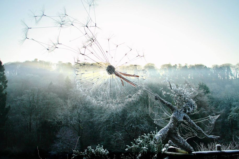 These Wire Fairy Dandelion sculptures are AMAZING!!!! | Art: Cameras ...