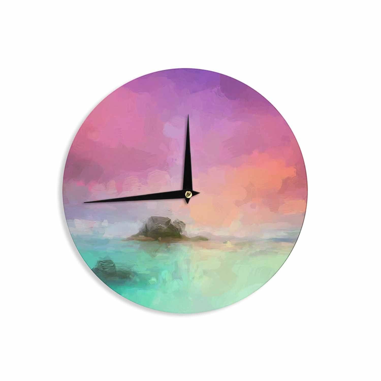 "Oriana Cordero ""Tenerife"" Aqua Purple Wall Clock"