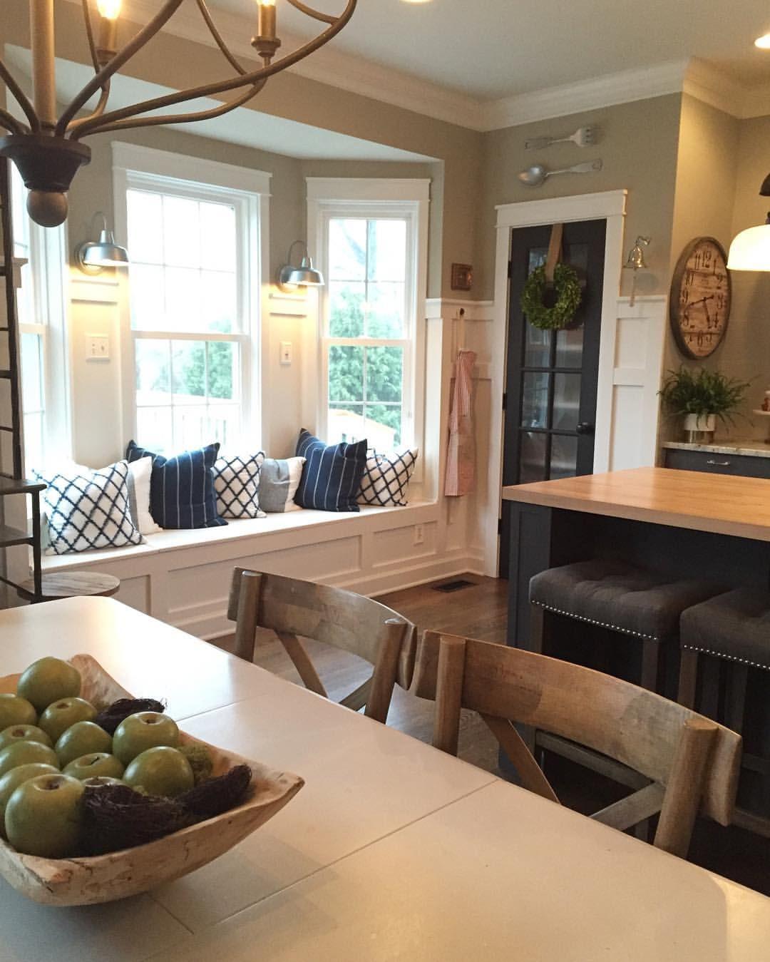 Window nook decorating ideas  cozy window seat nook in kitchen  kitchen makeoverplease