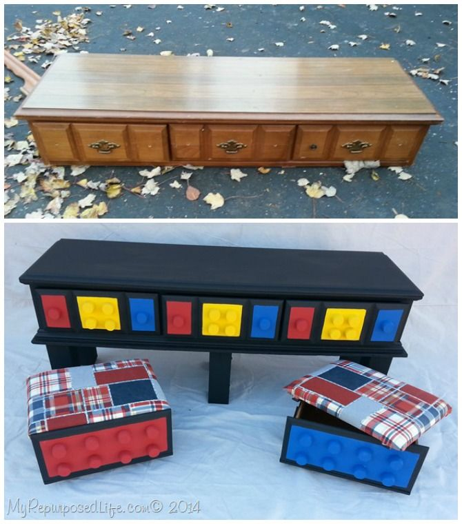 DIY Lego Table from Repurposed Dresser Instructions - DIY Lego Table ...