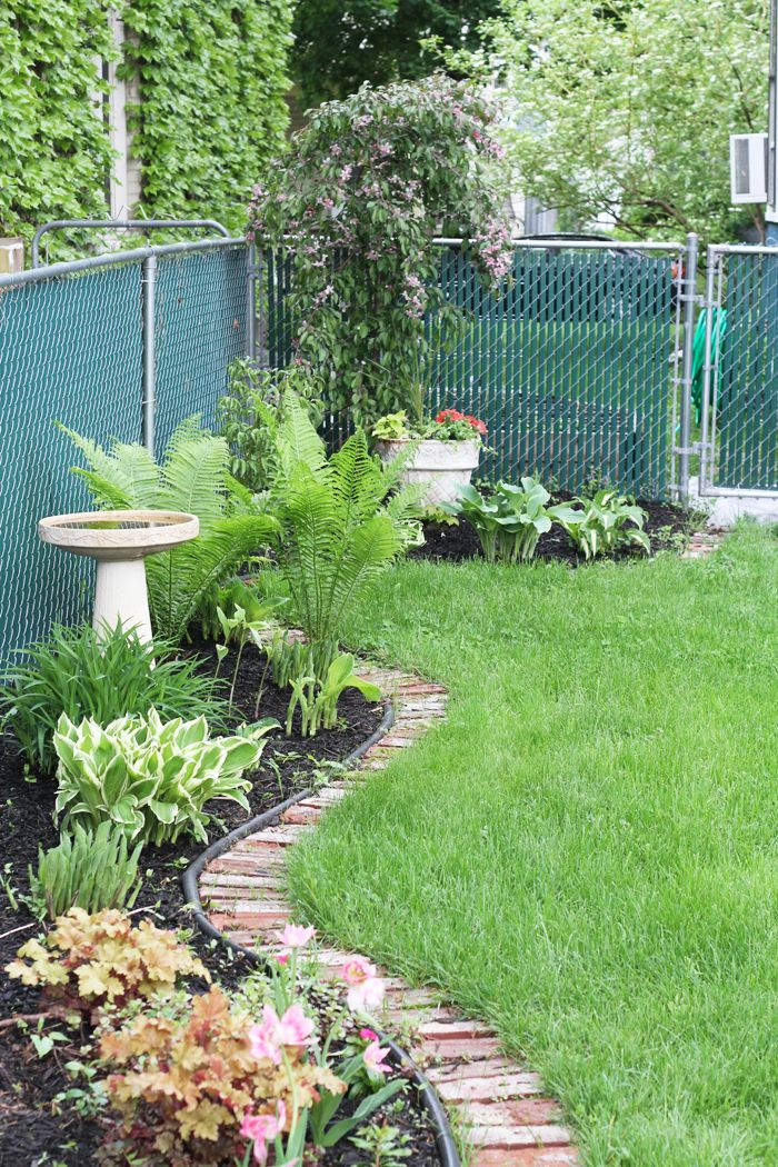 Backyard border garden my outside sanctuary pinterest for Yard borders