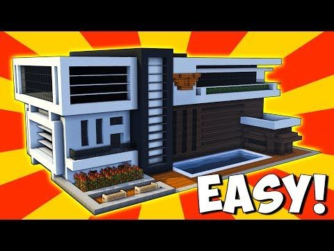 Minecraft How To Build A Modern Mansion House Tutorial 100
