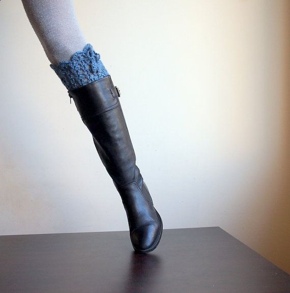 Crochet pattern PDF Leg warmers lace boot socks, DIY tutorial, dance ...