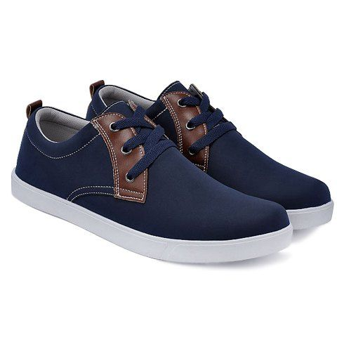 $12.09 British Style Men's Casual Shoes With Splicing and Stitching Design