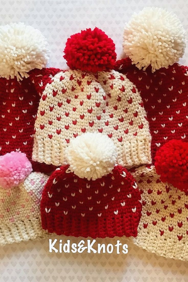 Cute little heart hats with free patterns for all ages crochet cute little heart hats with free patterns for all ages bankloansurffo Choice Image