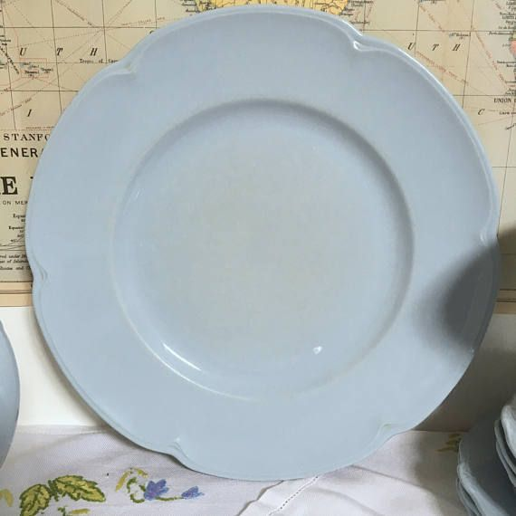 Vintage Johnson Brothers u0027Grey Dawnu0027 Dinner Plate & Vintage Johnson Brothers u0027Grey Dawnu0027 Dinner Plate | Denim Blue ...