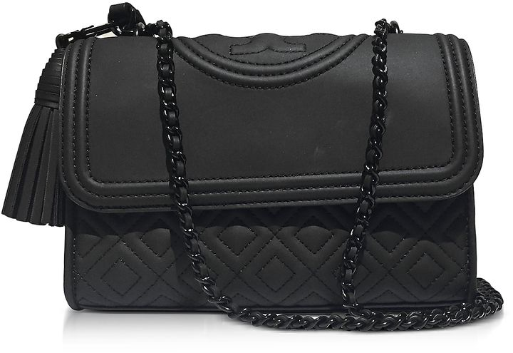 c3e36d2cf8d1 Tory Burch Fleming Black Matte Small Convertible Shoulder Bag ...