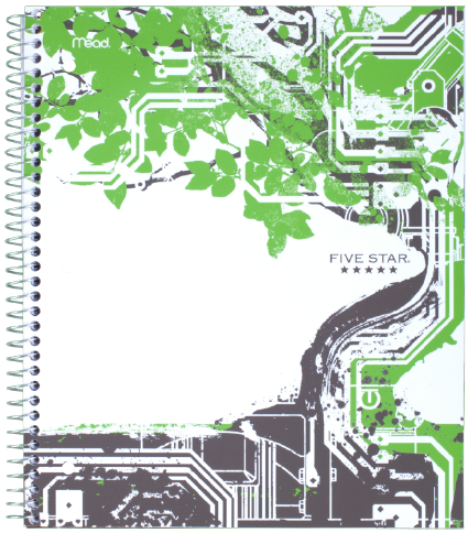 A graphic and tech inspired tree graphic for this notebook! #FiveStarNotebook #FiveStar