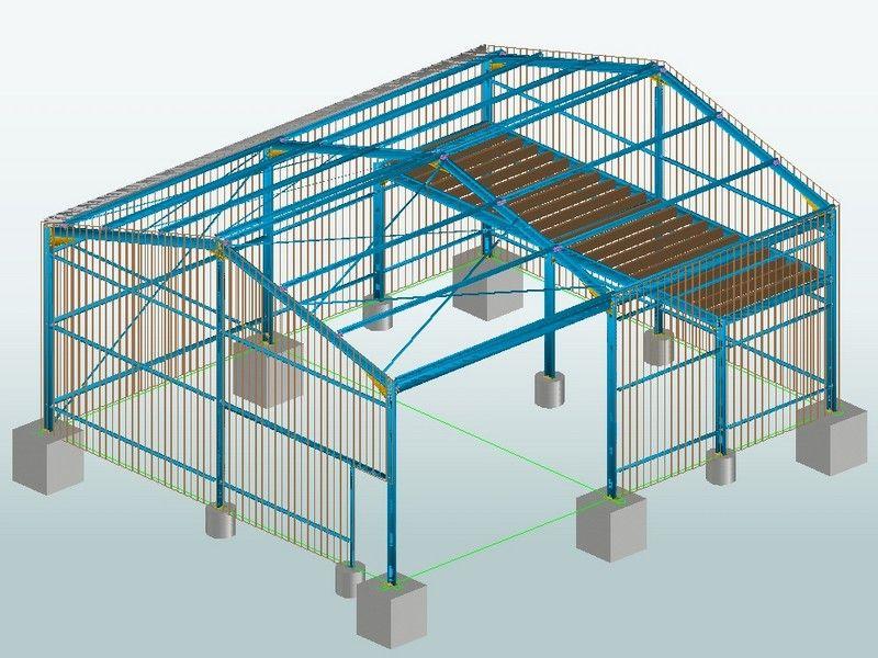 charpente metallique schema Toiture Pinterest Construction - avantage inconvenient maison ossature metallique