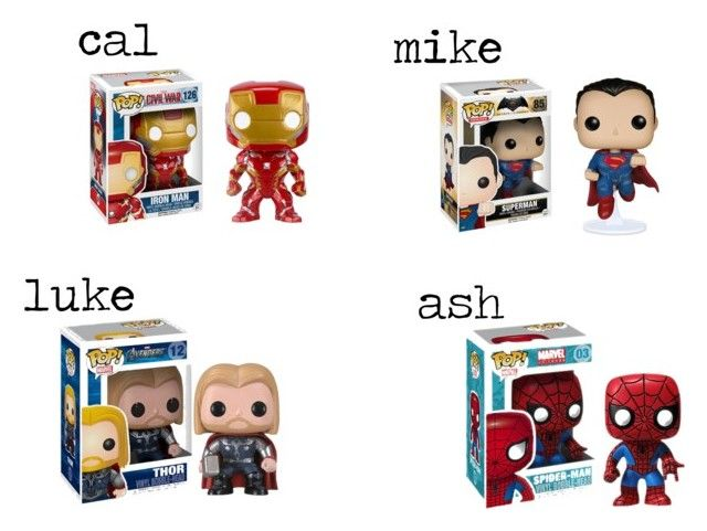 """super hero pop! he gets you (pt 3)"" by macksimmons21 ❤ liked on Polyvore featuring Marvel and Funko"