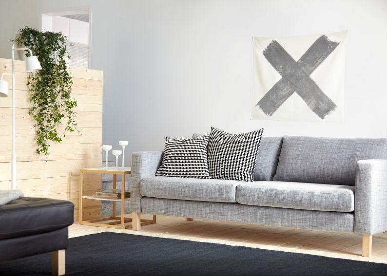 Ikea Woonkamer Hoekbanken : Comfortabel zitten doe je op de karlstad 2 zitsbank. #ikea banken