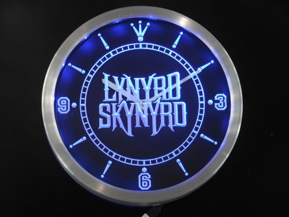 Lynyrd Skynyrd Bar Neon LED Wall Clock Products Pinterest
