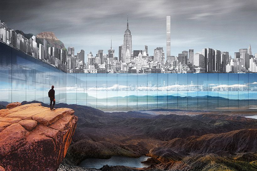 proposal to build 1,000 foot walls around excavated central park