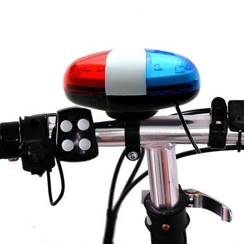 Accessories for Kids Bike 4 Tone Horn Bicycle Bell Bike Light Electronic Siren