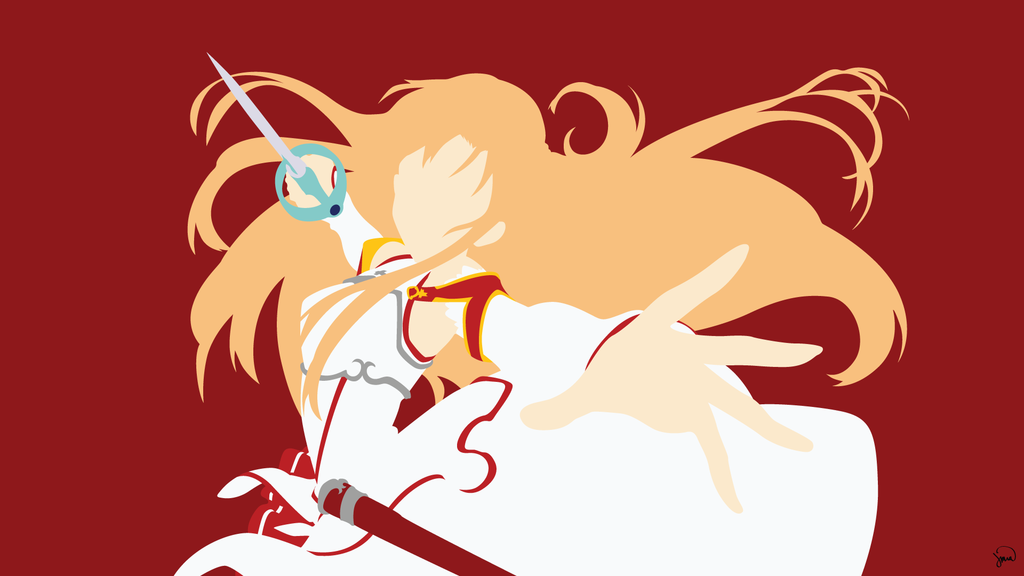 Yuuki asuna v2 sword art online minimalism by for Minimal art online
