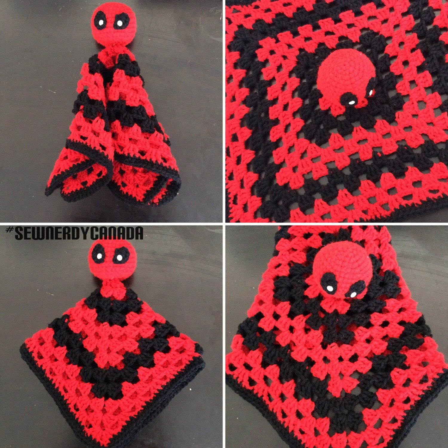 Deadpool Snuggle Buddy Crochet Pattern by SewNerdyCanada on Etsy ...