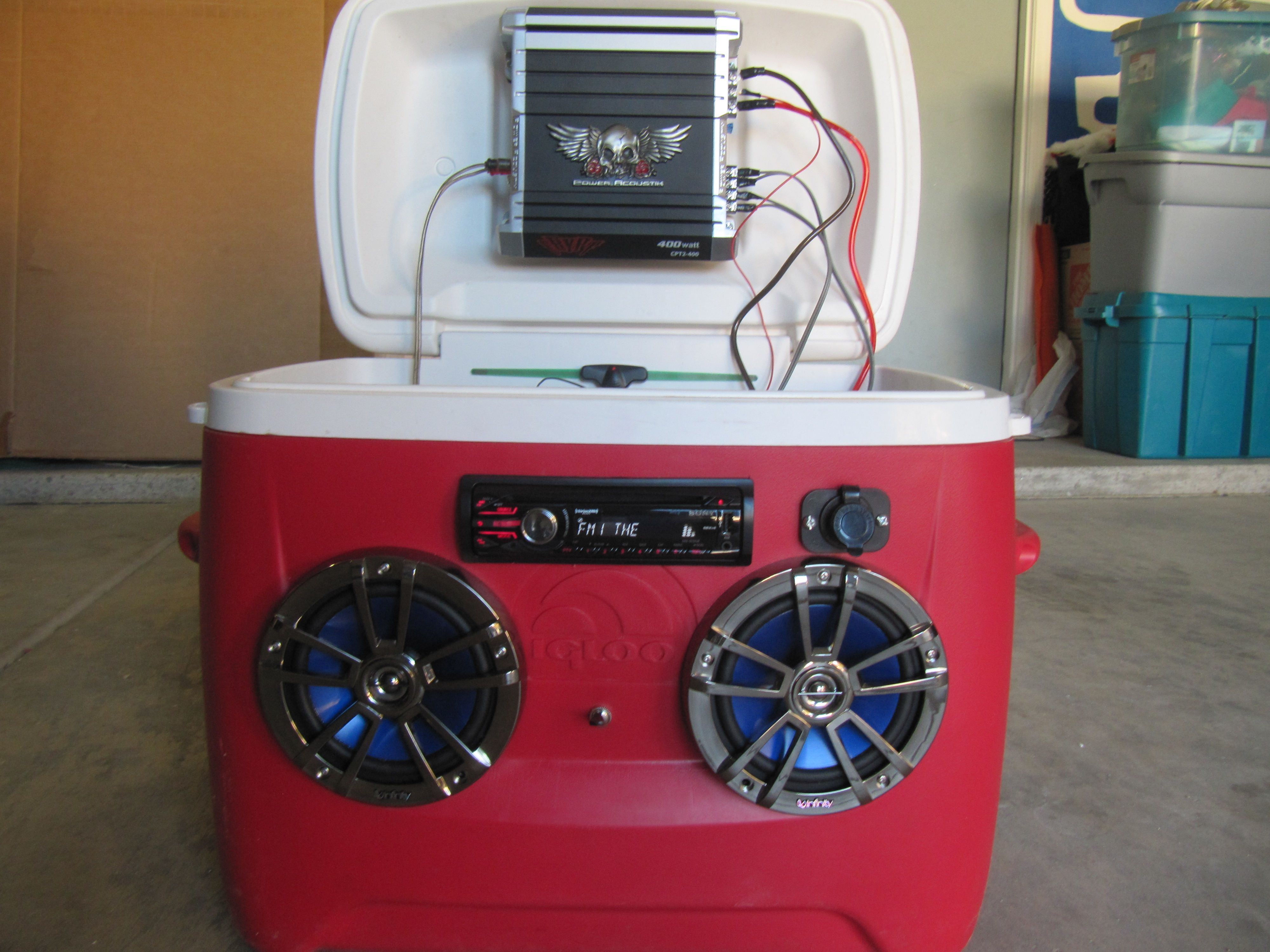 I Turned An Old Cooler Into A Portable Stereo Cooler