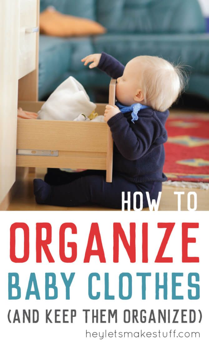 Here's how to organize baby clothes -- what to keep, what to get rid of, and how to store them -- and how to stay organized!