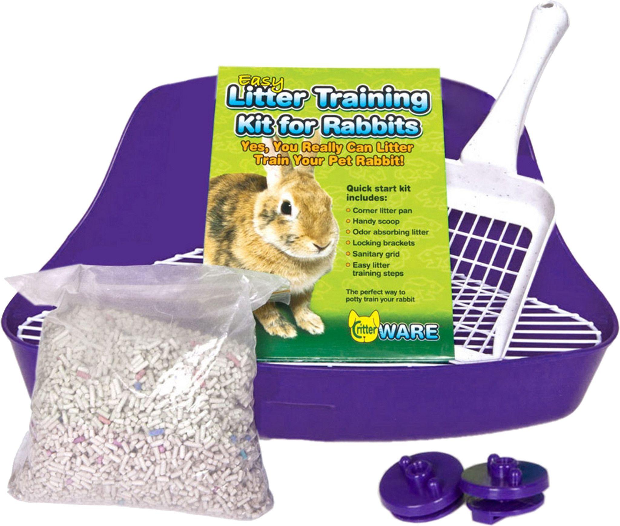 Litter training kit for rabbits litter training