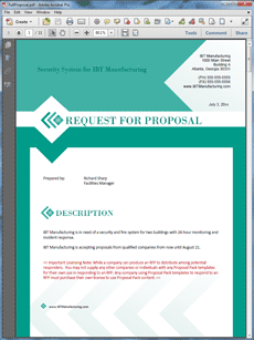 Request For Proposal (RFP) Sample   The Request For Proposal (RFP) Sample