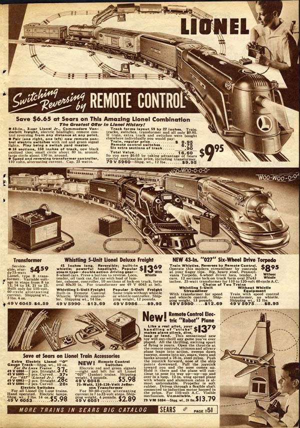 Lionel train sets vintage