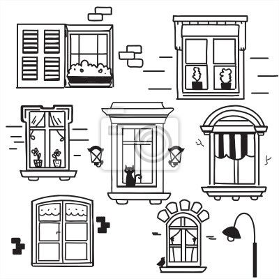 windows wall paper pinterest zeichnen zeichen und tafelbild. Black Bedroom Furniture Sets. Home Design Ideas