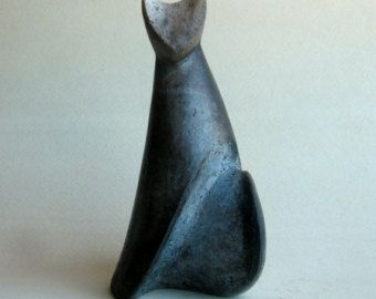 Ceramic figure Grey catCeramic figure Grey cat by Mudrenko