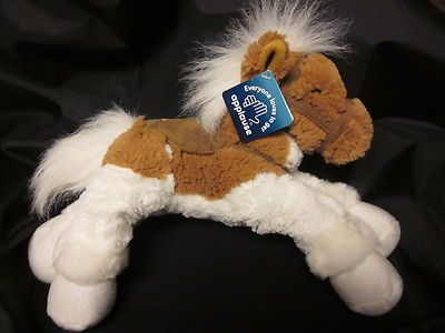 """99 Cent Auction of the Day:  Applause Pinto Pony Plush Toy, 17"""" with tack 09-10-13"""