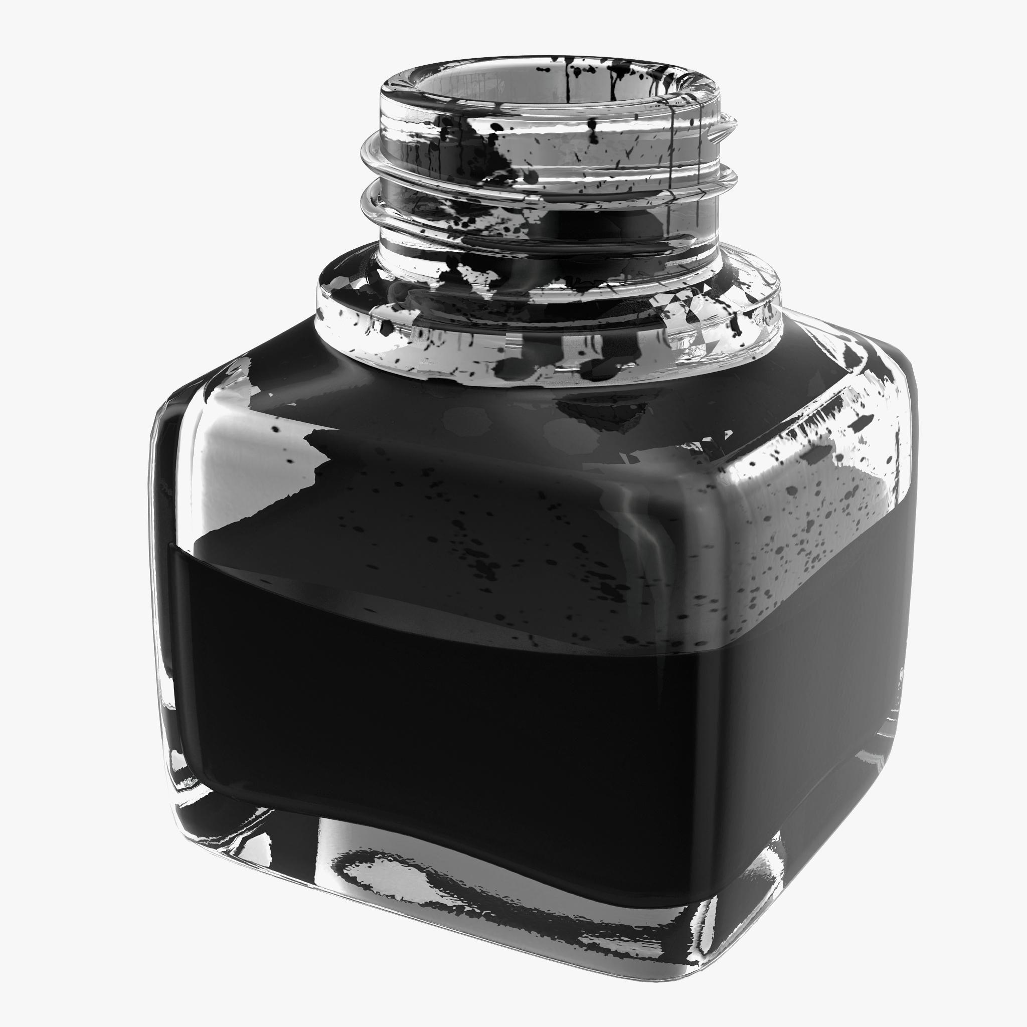 Ink Bottle 3D Model AD ,InkBottleModel (With images