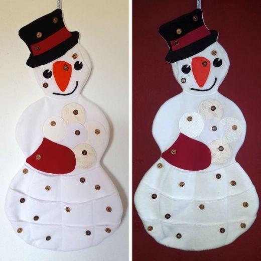 Einen Schneemann Adventskalender nähen