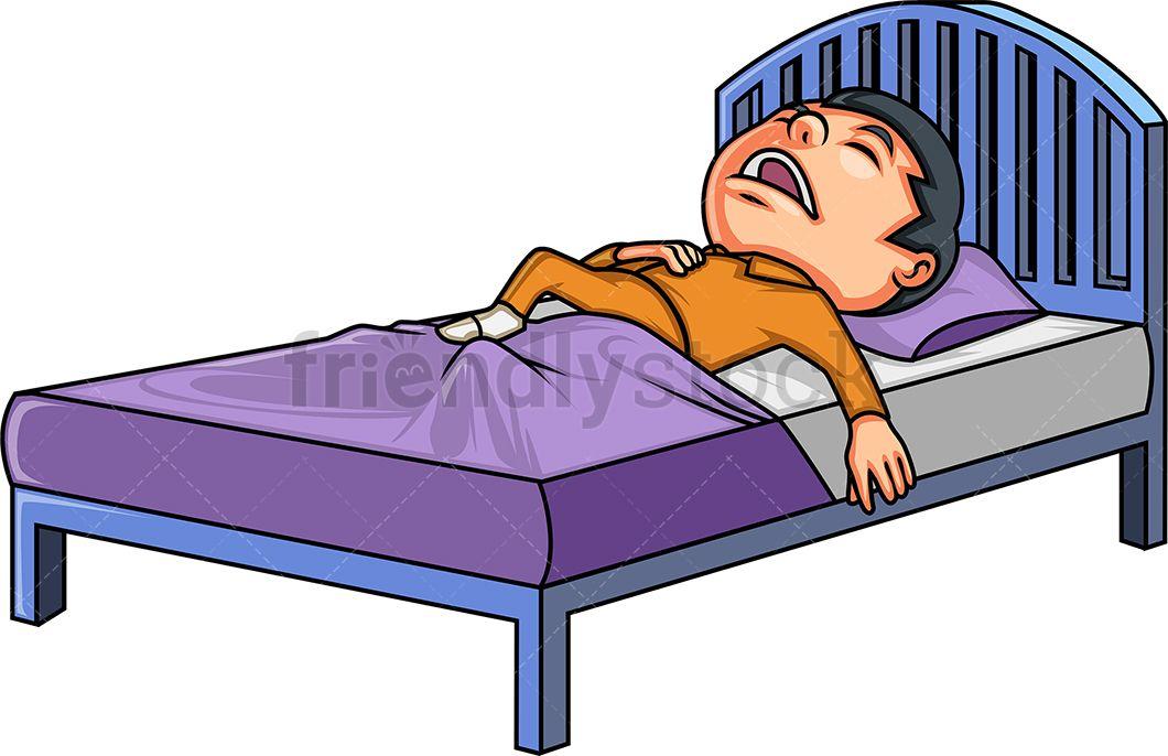 Little Boy In Bed Bed Clipart Cartoon Clip Art Little Boys