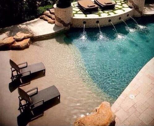 Beach themed pool! It's like a vacation every day :))