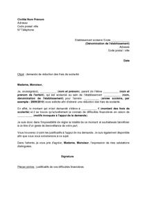 Exemple Gratuit De Lettre Demande Reduction Frais Scolarite Lettre A Exemple De Lettre Modeles De Lettres
