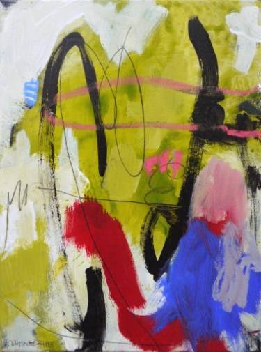 """Saatchi Art Artist Daniela Schweinsberg; Painting, """"Spring Garden #2 (Frühlingsgarten #2), Work no. 2015.36"""" #art"""