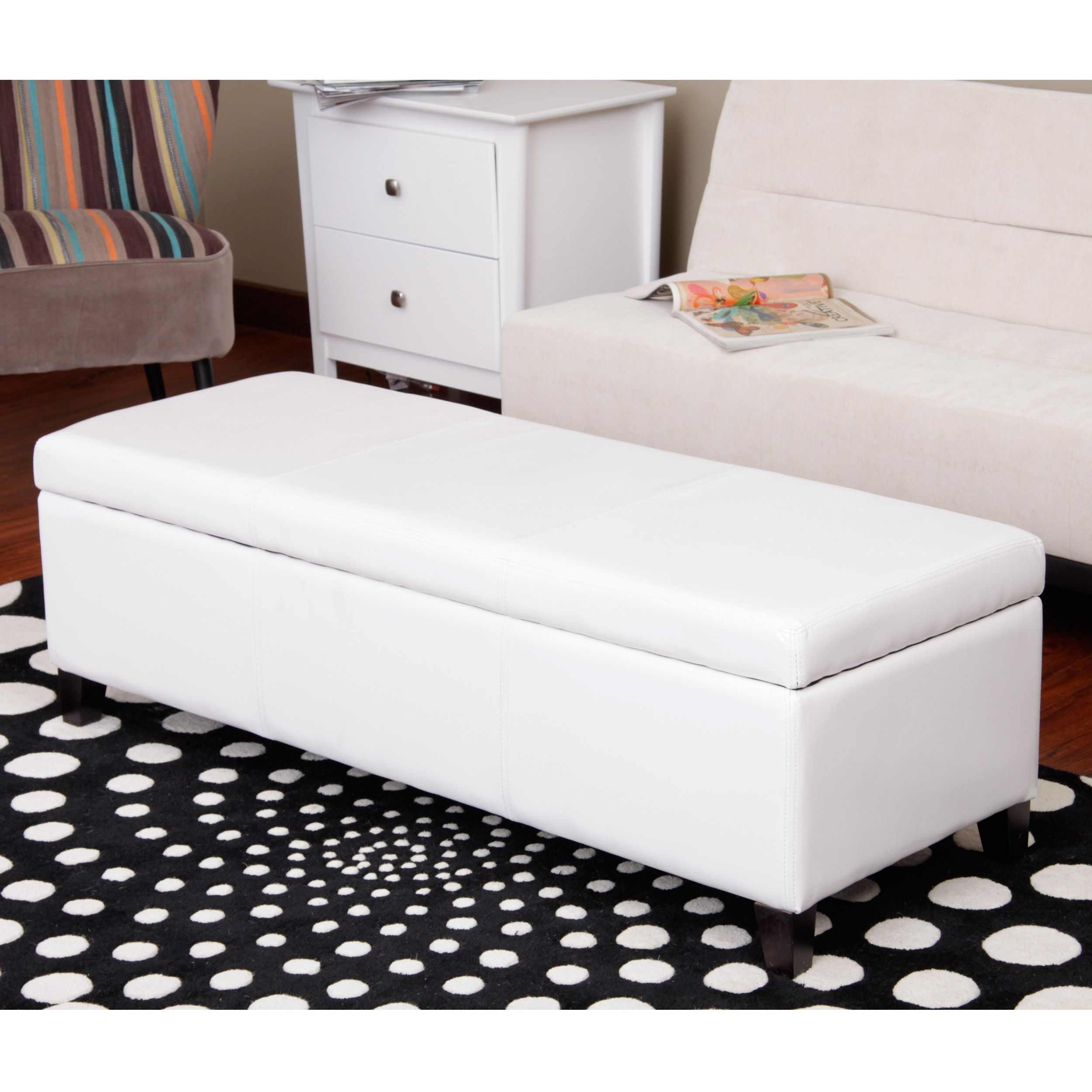 Warehouse of Tiffany Sharon Faux Leather Storage Bench | Overstock ...
