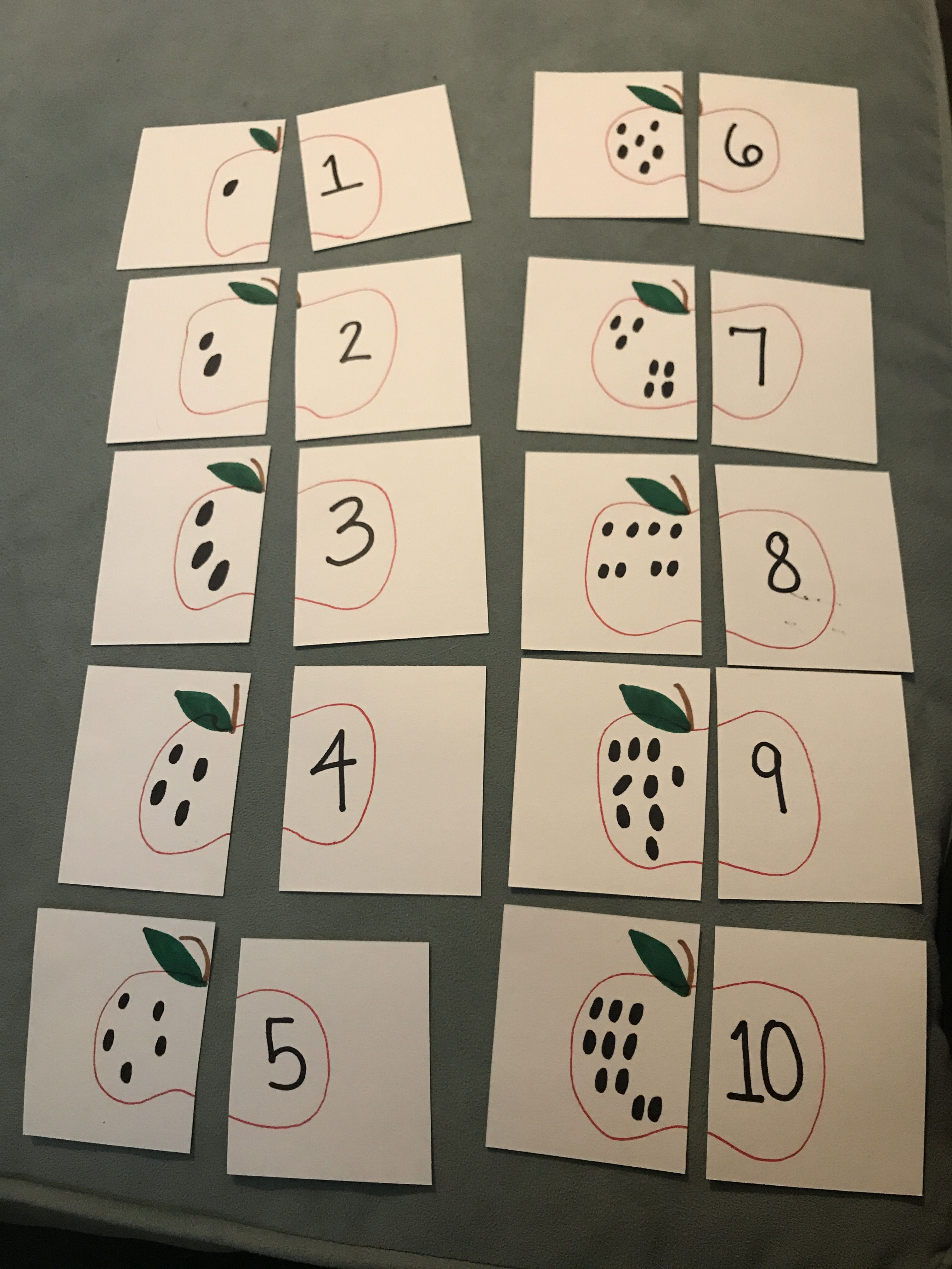 10 Apples Up On Top Matching Game Children Match The
