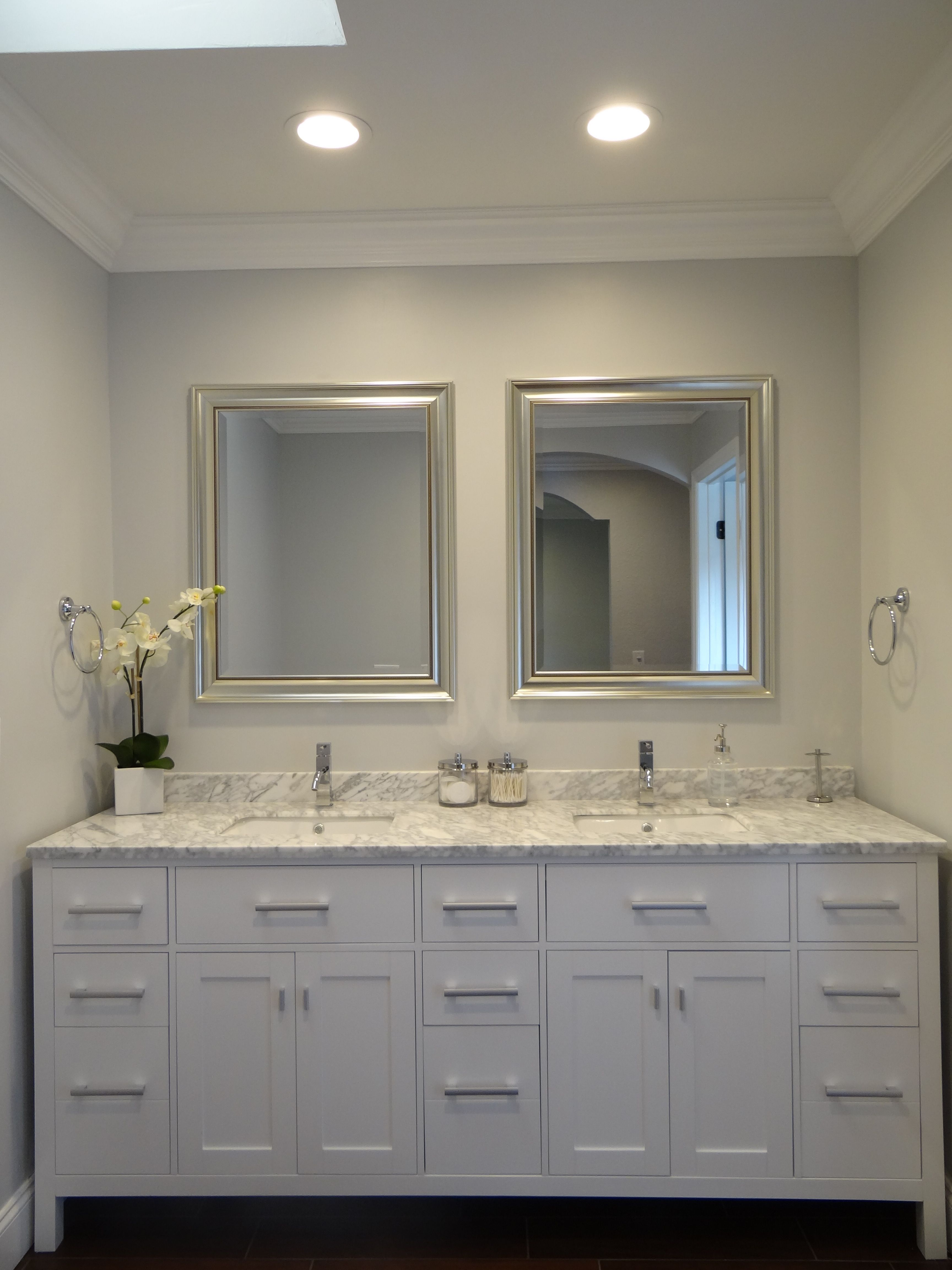 Master bathroom suite with double vanity and sherwin - Master bedroom and bathroom paint colors ...