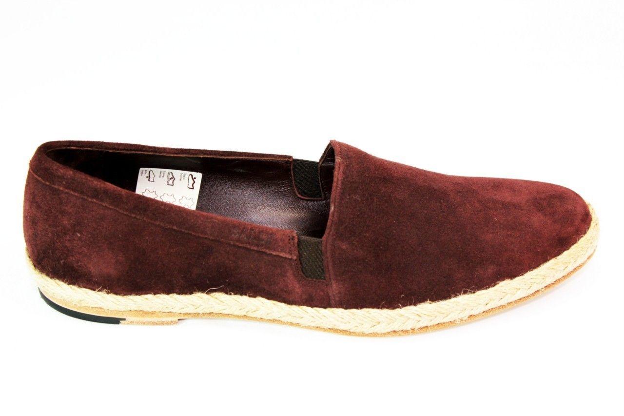 60150722c86 Bally Men s ETAO 11 Raisin   Burgundy Slip on Espadrille Loafer Shoes