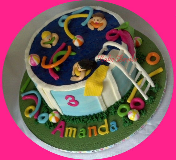 Pool Party Cake Topper Kit