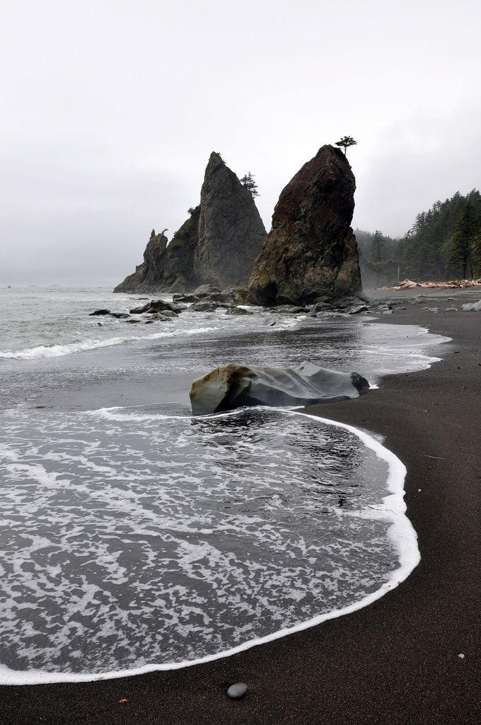 Pacific Ocean Coast Rialto Beach Olympic National Park Washington State
