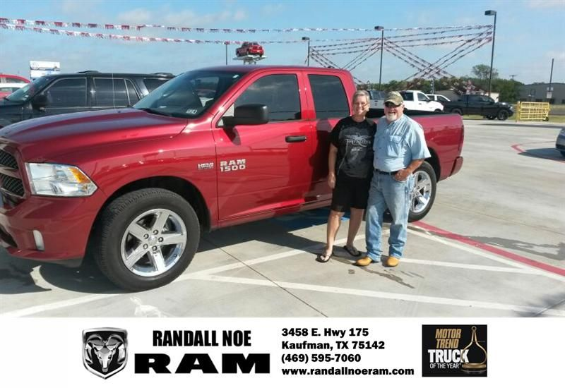 Everything went really well with Randall Noe RAM in Kaufman. I received excellent service, got the best value for my trade-in, and was in and out in no time at all. I will definitely be back to purchase from them again and referring all my friends and family. The team up there were very helpful and friendly. I Love My 2013 Ram 1500 ST!!! Thank You! -  Gary Flowers, Tuesday, October 07, 2014 http://www.randallnoeram.com/?utm_source=Flickr&utm_medium=DMaxxPhoto&utm_campaign=DeliveryMaxx