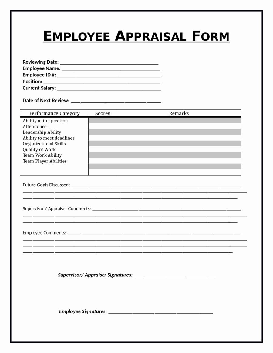 Employee Review Form Template Beautiful 2019 Employee Evaluation Form Fillable Printab Evaluation Employee Employee Performance Review Employee Evaluation Form 30 day employee review template