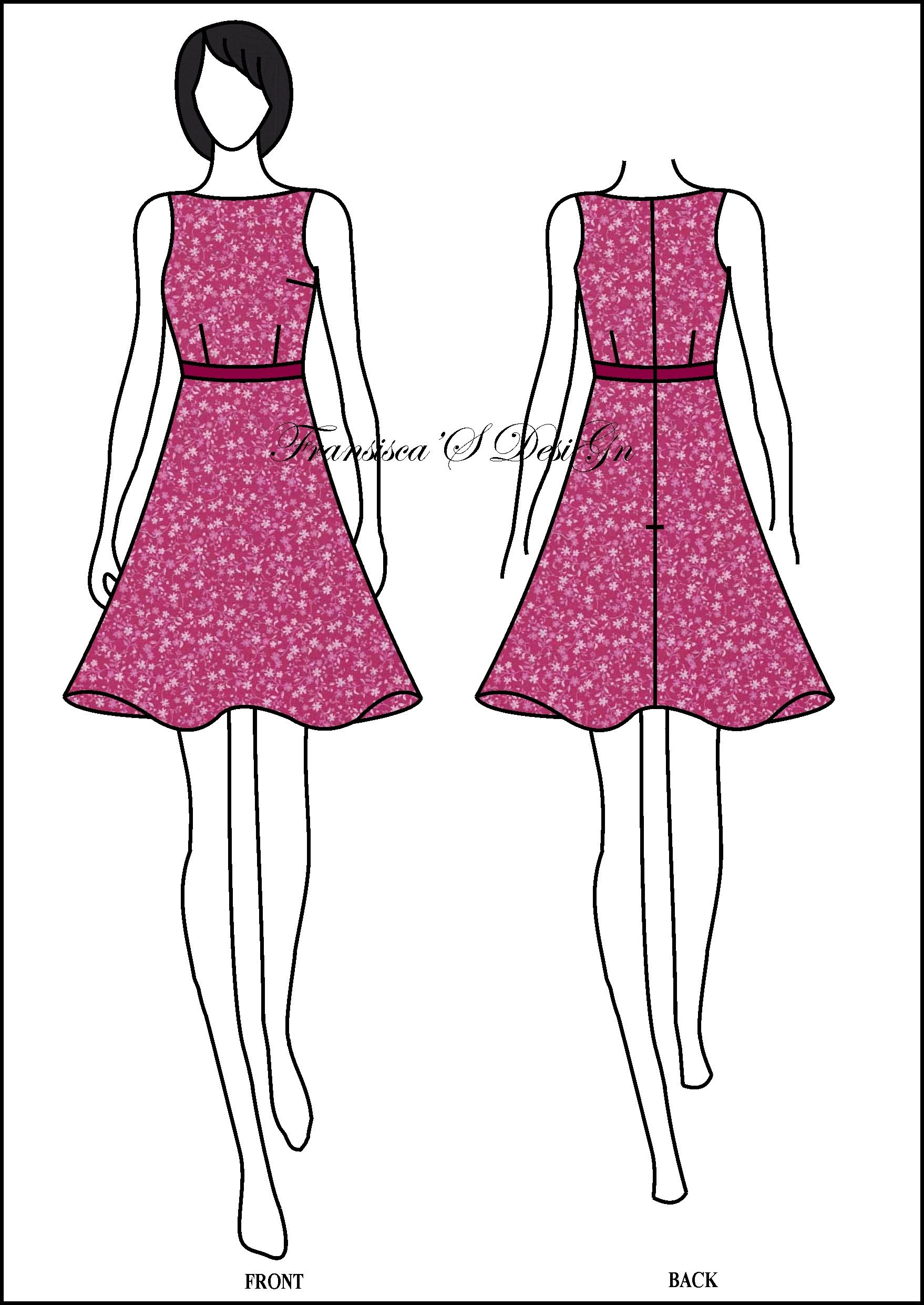 Dress Sabrina Klok FashionDesigner Butik LineShop