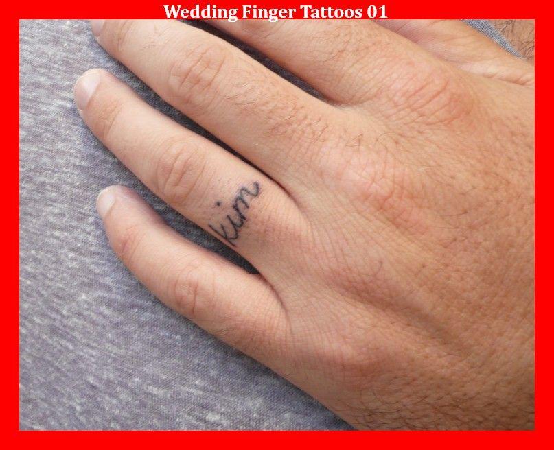 Wedding Finger Tattoos 01 | Finger Tattoos | Pinterest | Wedding ...