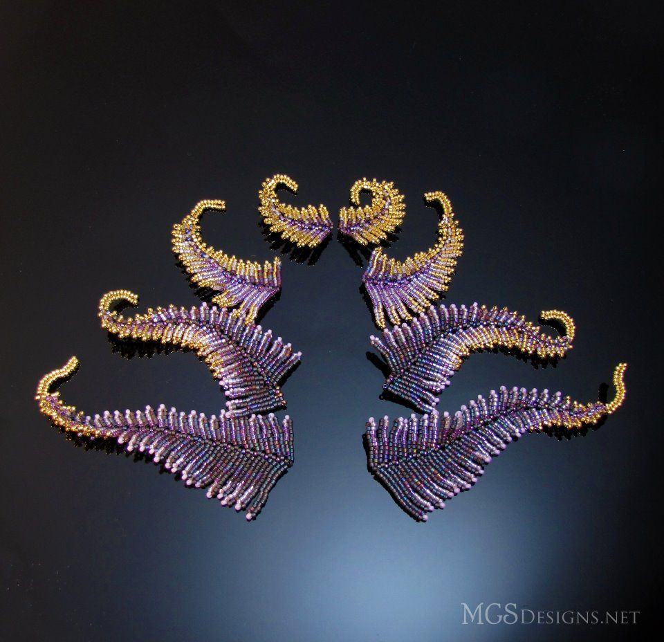 .very cool beaded fern-like shapes