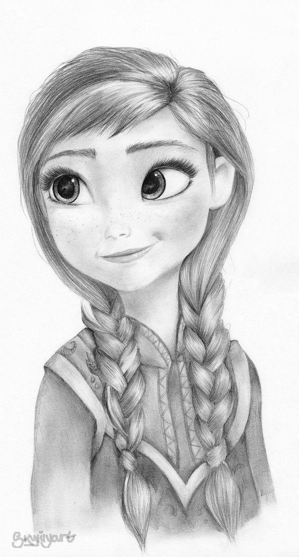 Anna Frozen By Skylilyart On Deviantart Disney Art Drawings