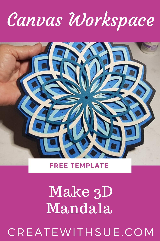 Download Canvas Workspace 3D Mandala Tutorial in 2020 | Mandala ...