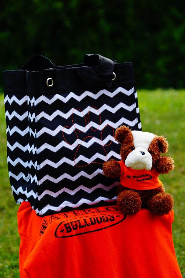 Thirty One Essential Storage Tote In Black And White