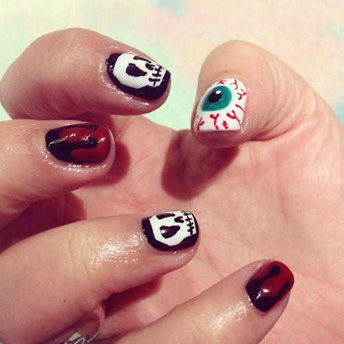 eye ball...   Halloween nail colors, Halloween nail ...